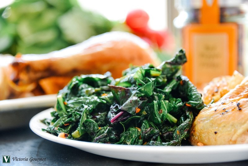 sauteed beet greens red pepper flakes spices victoria gourmet recipes