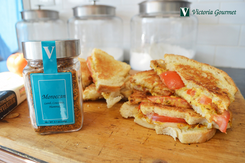 moroccan grilled cheese sandwich seasoning spices victoria gourmet recipe