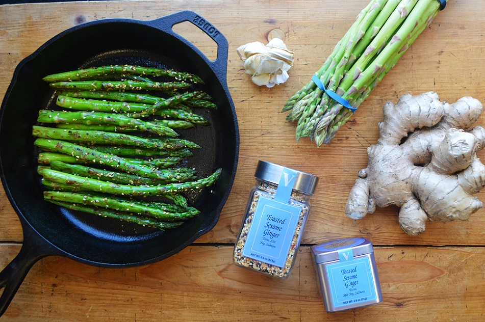 toasted sesame ginger asparagus ginger spices victoria gourmet recipes