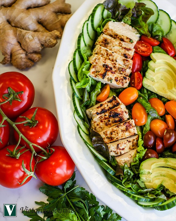 ginger citrus chicken salad simple seasoning victoria gourmet recipe
