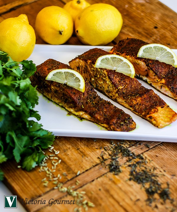 indian spiced salmon cumin spices melange victoria gourmet recipe