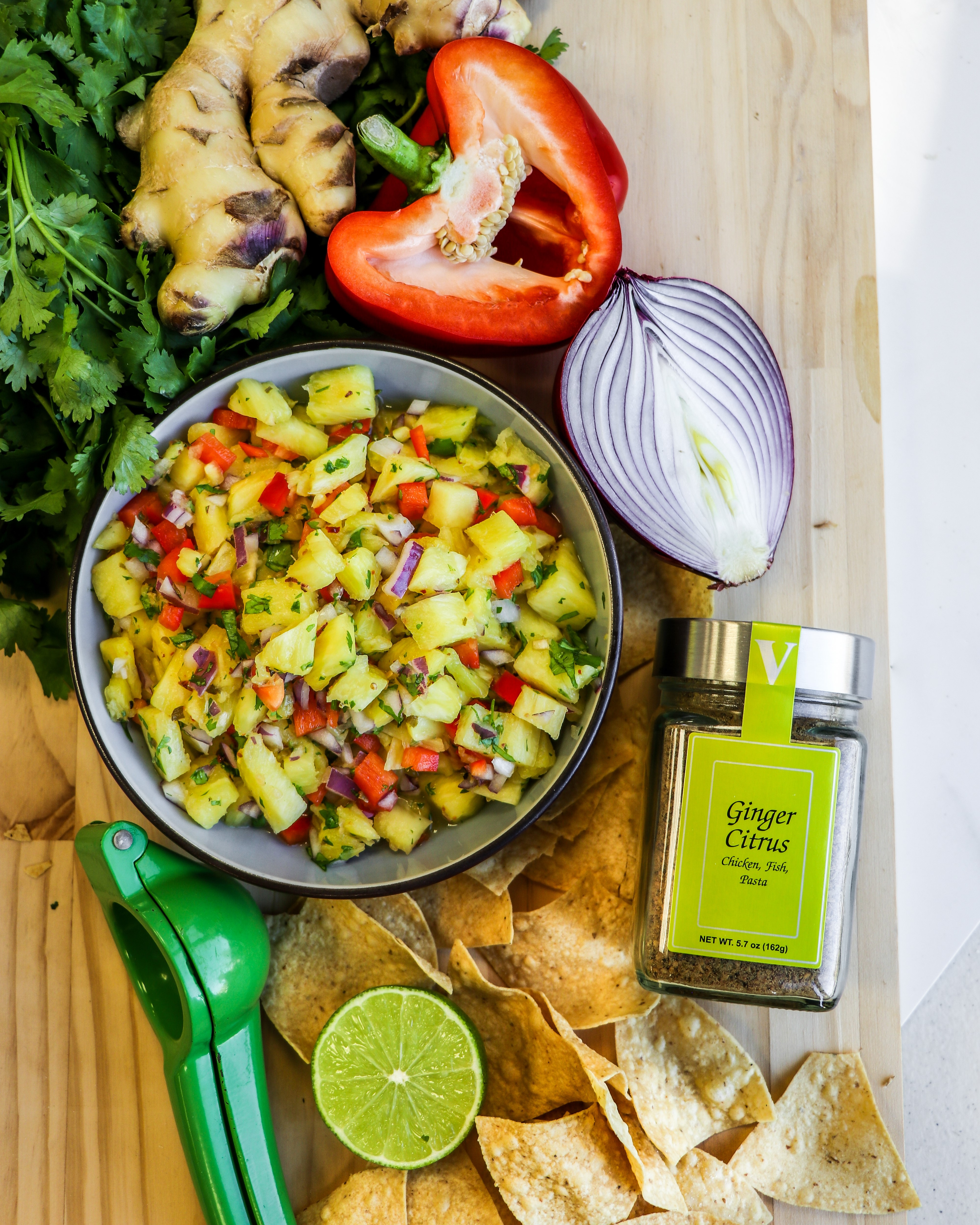 pineapple salsa ginger citrus seasoning victoria gourmet recipe