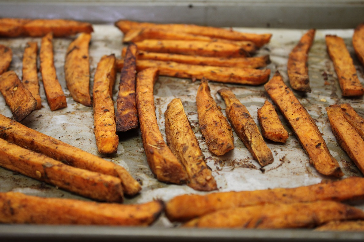 sweet potato fries cinnamon chile rub victoria gourmet recipes