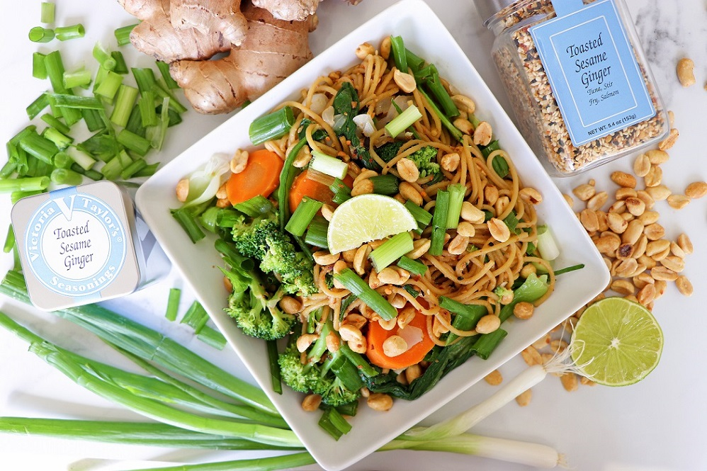 toasted sesame ginger noodles spices victoria gourmet recipes