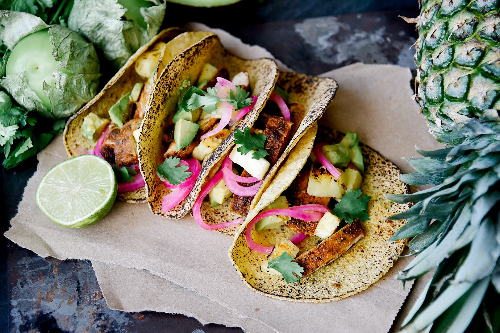 blackened chicken tacos spicy sweet tangy victoria gourmet recipe