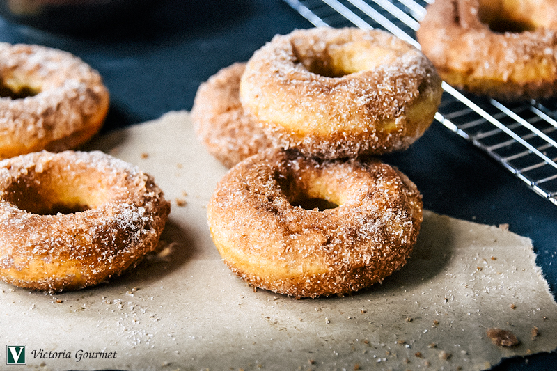 baked apple cider donuts spice victoria gourmet recipe
