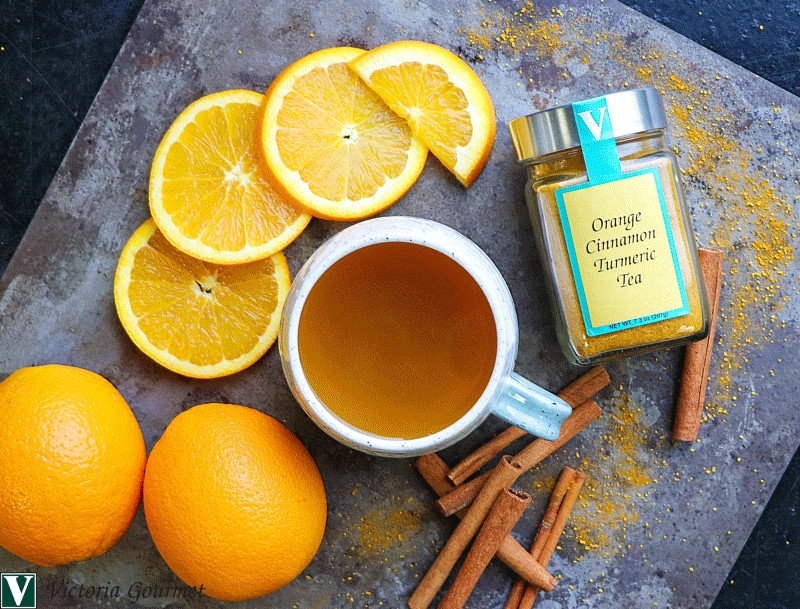 orange cinnamon turmeric tea spices victoria gourmet recipe