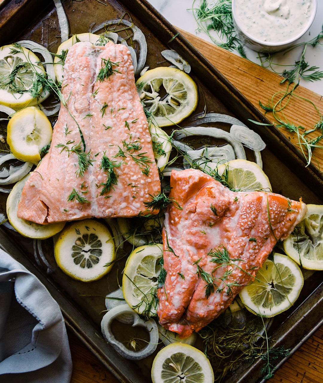 poached salmon ginger citrus victoria gourmet recipe