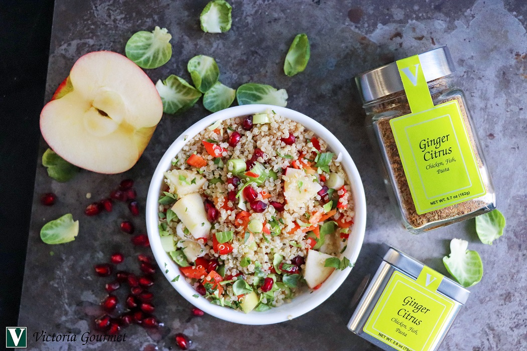 ginger citrus quinoa salad seasoning victoria gourmet recipe