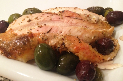 Provencial Roast Chicken with Olives