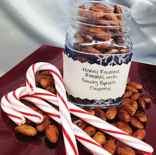 Honey Roasted Almonds with Smoky Paprika Chipotle