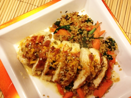 Sesame Teriyaki Chicken with Spinach and Quinoa