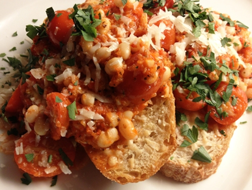 Rustic White Bean and Tomato Toast