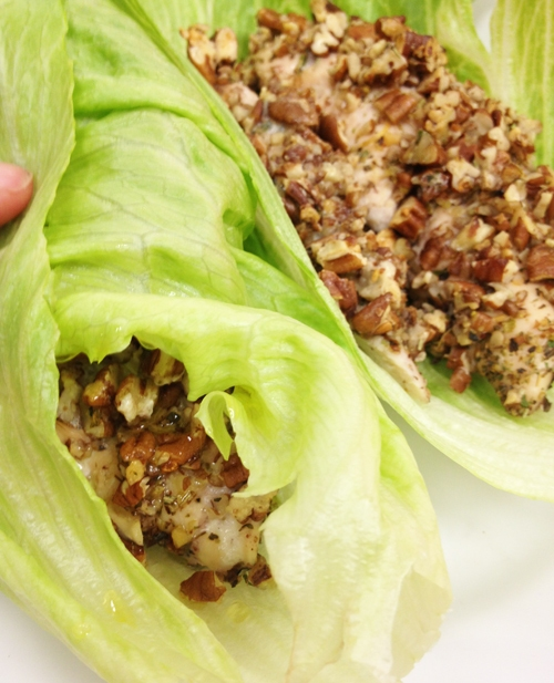Pecan Encrusted Chicken Lettuce Wraps