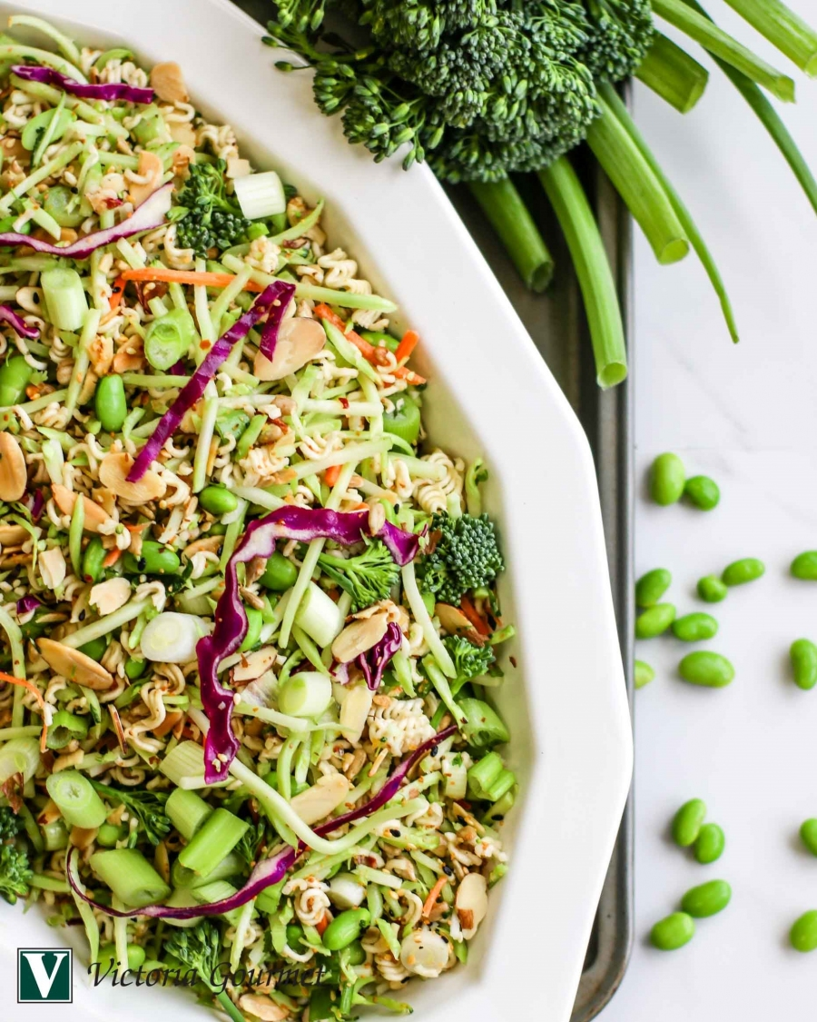 asian noodle slaw toasted sesame ginger victoria gourmet recipe
