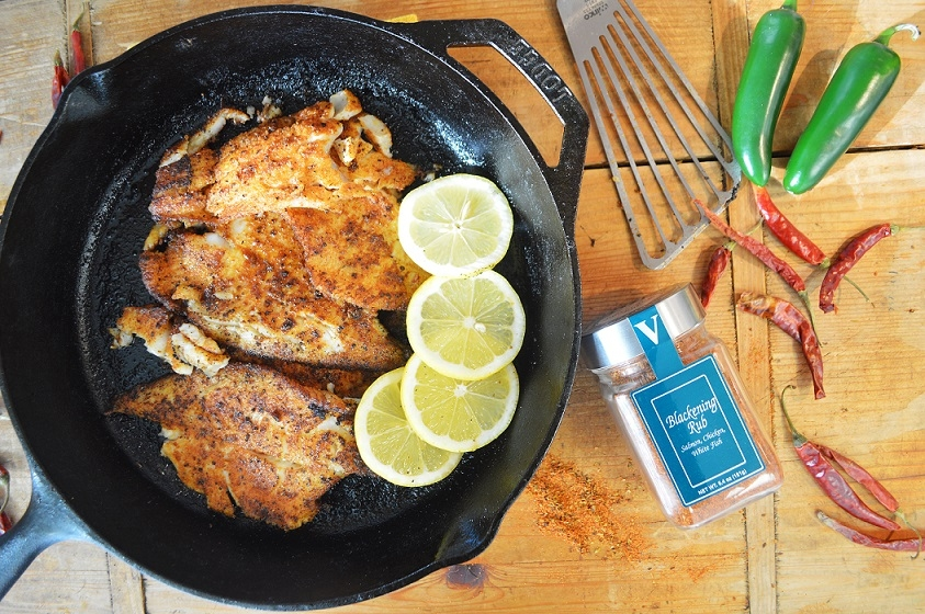 blackened fish cajun heat victoria gourmet recipe