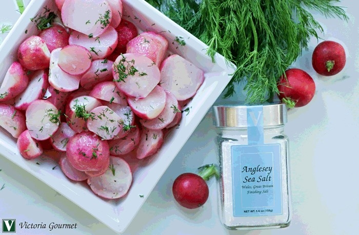 buttered radishes anglesey sea salt victoria gourmet recipe