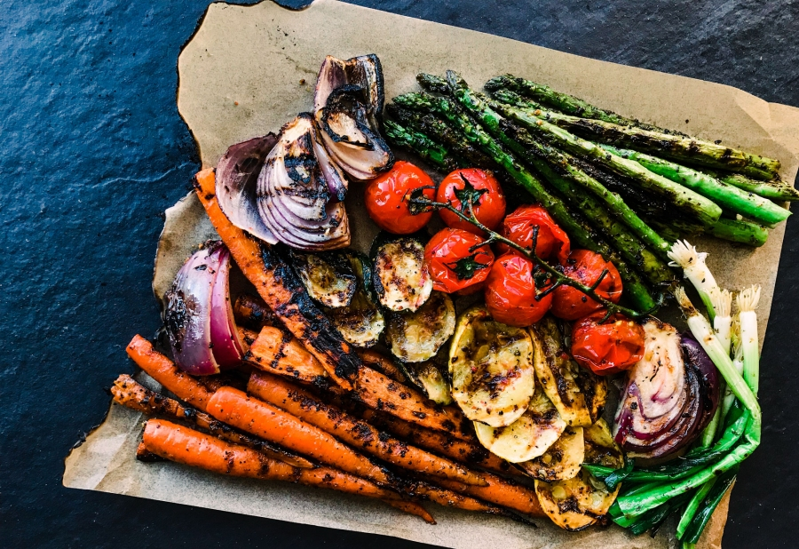 grilled vegetables cracked black pepper rub meal victoria gourmet recipe