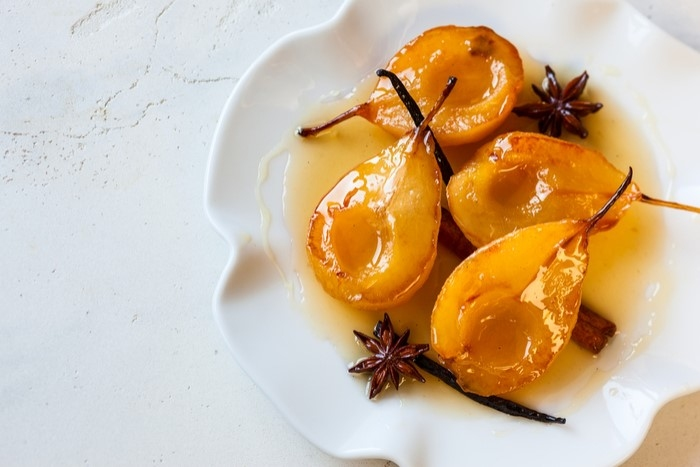 poached pears mulling spices victoria gourmet recipe