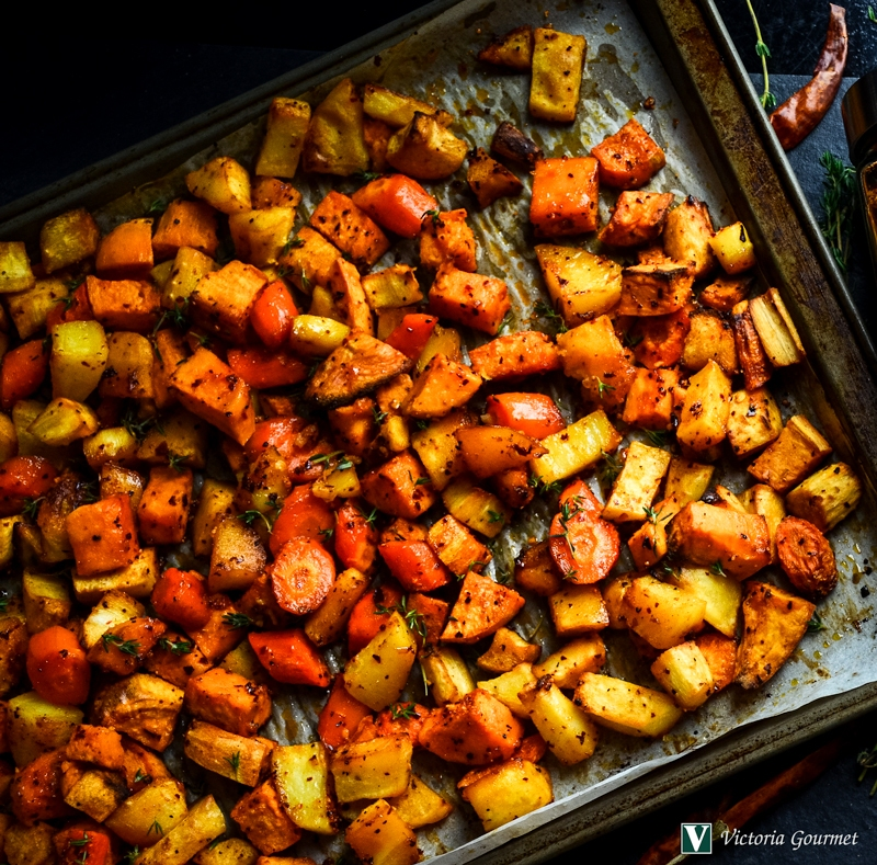 roasted root vegetables savory honey glaze victoria gourmet recipes