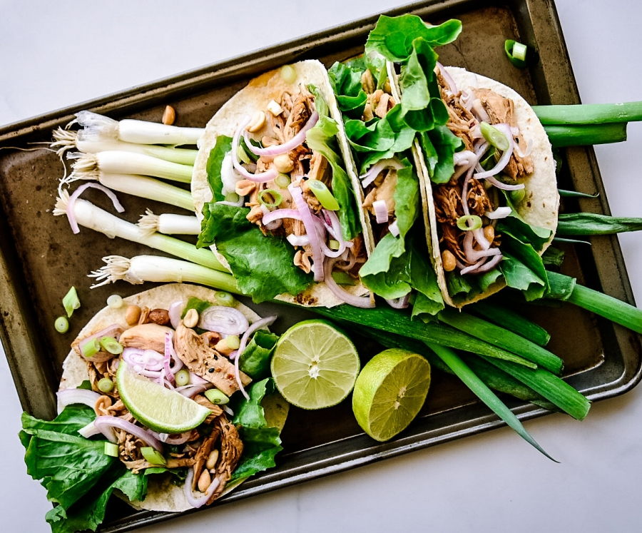 chicken tacos sesame ginger victoria gourmet recipe