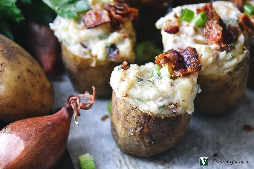 twice baked potatoes shallots spices victoria gourmet recipes