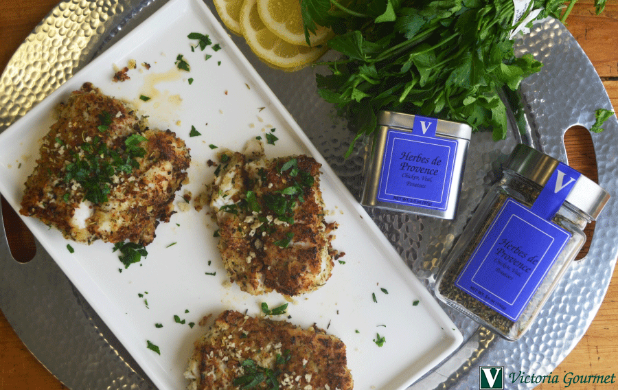 white fish fillets herbs de provence bread crumbs victoria gourmet recipes